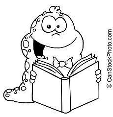 felolvasás, féreg, körvonalazott