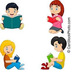 felolvasás, gyerekek, előjegyez, csoport