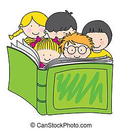 felolvasás, gyerekek, könyv