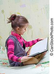 felolvasás, gyermek, könyv