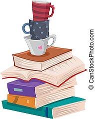 felolvasás, szabad, előjegyez, hosszú, csészék, kazal