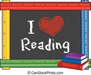 felolvasás, vonalzó, szeret, keret