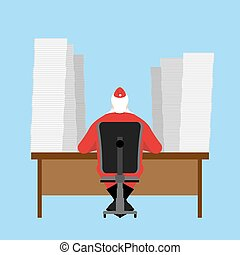 felolvas, cölöp, sok, irodalomtudomány, feast., klaus, előbb, asztal., beérkező, levelezés, nagy, children., dolgok, letter., karácsony, szent