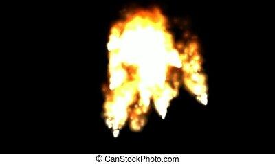 felrobbanás, dohányzik, elbocsát, vulkanikus