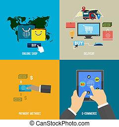 felszabadítás, fizetés, bolt, e-commerce, online