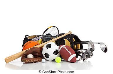 felszerelés, fehér, sport, háttér, válogatott