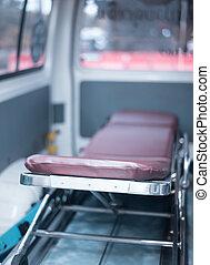 felszerelés, orvosi, ambulance., életlen