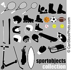 felszerelés, sport, állhatatos