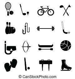 felszerelés, szabad, sport