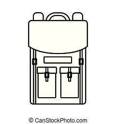 felszerelés, utazás, hátizsák