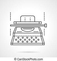 felszerelés, vektor, gépelt kézirat, egyenes, lakás, ikon
