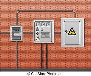 felszerelés, villamos energia