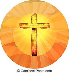 feltámadás, jelkép, keresztény, kereszt, jézus