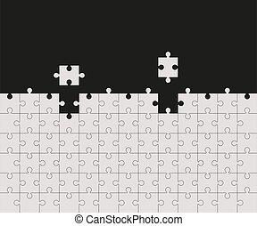 feltétel, rejtvény, vektor, illustration., pieces., lombfűrész