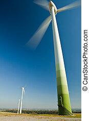 felteker, forrás, választás, -, turbina, zöld, energia