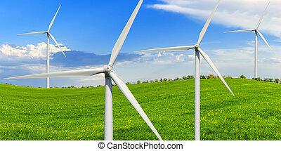 felteker, generators, zöld kaszáló, erő