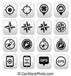 felteker, iránytű, navigáció, gps, rózsa