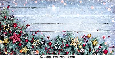 fenyő, határ, -, karácsony, elágazik