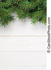 fenyő, hely, fából való, szöveg, tető, karácsony, fa., háttér, másol, -e, kilátás