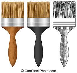 festék, állhatatos, ecset
