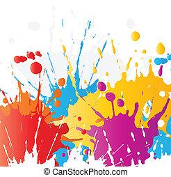 festék, grunge, splats