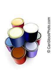 festék, kiválasztás, konzerv