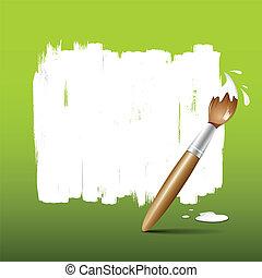 festék, zöld, ecset, háttér