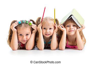 fest, rudacska, gyerekek, könyv