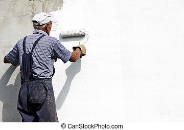 festmény, épülethomlokzat