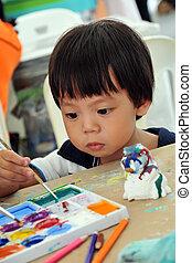 festmény, gyermek