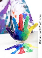 festmény, gyermekkor