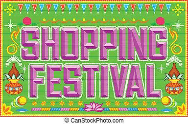 fesztivál, bevásárlás