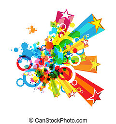 fesztivál, dekoráció, elvont, színes, háttér