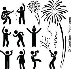fesztivál, fél, esemény, ünneplés