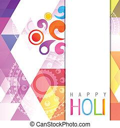 fesztivál, indiai, holi