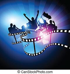 fesztivál, tervezés, film