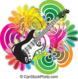 fesztivál, zene, ábra