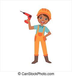 fiú, állhatatos, elektromos, öltözött, építő, szellemi foglalkozás, házhely, ábra, fúr, birtok, szerkesztés, jövő, álmodik, kölyök