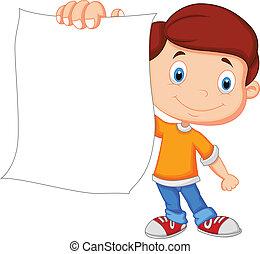 fiú, dolgozat, karikatúra, birtok, tiszta