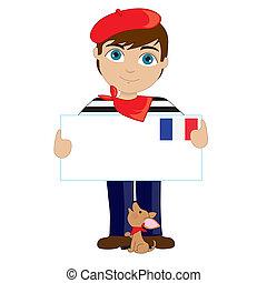 fiú, francia cégtábla
