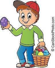 fiú, ikra, húsvét, 1, kép, téma