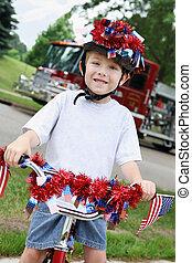 fiú, july 4, bicikli, fiatal