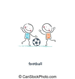 fiú, labdarúgás, játék