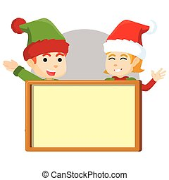 fiú, leány, manó, karácsony, boa