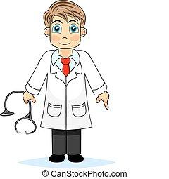 fiú, orvos, csinos