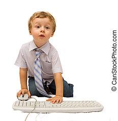 fiú, számítógép
