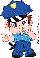 fiatal, rendőr
