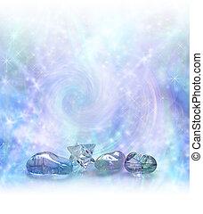 fiel, kristály, varázslatos, gyógyulás, energia