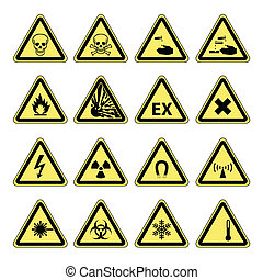 figyelmeztetés, egészség, biztonság, kockázat, &