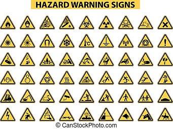 figyelmeztetés, kockázat, cégtábla